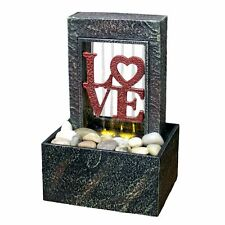 Soothing Relaxing Raining Heart Love LED Fountain Desk Indoor Water Fountain ZEN