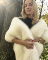 Faux Fur Wedding Bridal Shawl Winter Wrap Prom Shrug Bolero Cape Jacket Coats