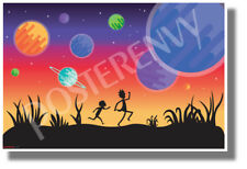 Rick and Morty Planets - NEW Funny Cartoon Comedy POSTER (hu440)