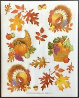 Thanksgiving Carlton Cards Mint Condition!! Sheet of Vintage Stickers