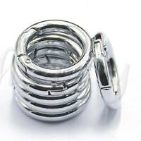6 PC Mini Silver Circle Round Carabiner Spring Snap Clip Hook Keychain Hiking