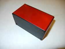 "Aluminum Project box, Enclosure 2""X4""X2.8""  GK4-2.8 Red Color."