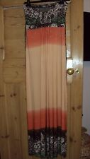 Apricot Bandeau Ombre Maxi Dress Size S