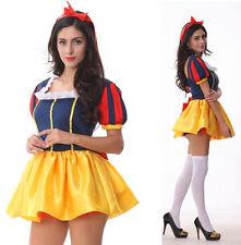 Disney Princess Fancy Dress Adult Ladies Snow White Costume Halloween Hen Outfit
