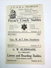 1902 Rochester New York Advertisement Sullivan Carriages Payne Freckleton Coach