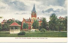 Fort Wayne IN Home For Feeble Minded Youth Postcard 1911