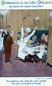 Postcard of Simpsons in the Strand, humorous, c 1905