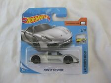 Hot Wheels 2019 Factory Fresh Porsche 918 Spyder Silver Mint In Short Card