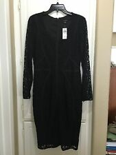 NWT Ann Taylor Black Lace Cocktail Dress Size 6