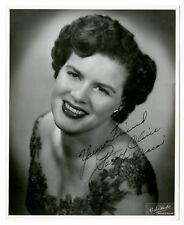 """Amazing 1950's Patsy Cline """"Decca"""" 8 x 10 Autographed Portrait Photo LOA PSA/DNA"""