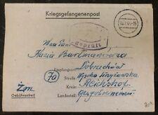 1944 Oflag II-D Germany Polish Prisoner of War Letter Cover POW