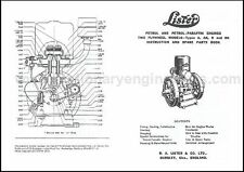 Lister A & B Stationary Engine Instruction & Parts Book, Lister A & B Manual