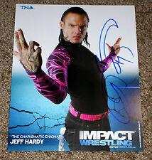 JEFF HARDY Signed Autographed TNA Impact Wrestling 8x10 Promo Photo