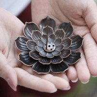 Alloy Incense Burner Stick Holder Plate Burner Buddhism Coil Lotus Censer Latest