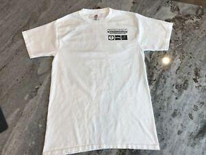 Youth L/XL White Hanes T-shirt Fishing Fishmaster Marine 100% Cotton EUC