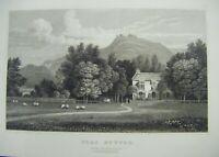 1830 Antique Print ~ Plas Newydd, Near Llangollen, Denbighshire - Gastineau
