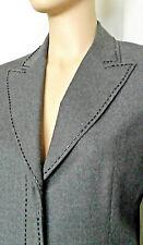 Stylish ICEBERG Gray BEADED JACKET Blazer PANT SUIT Virgin Wool 44 EUC Late 90s