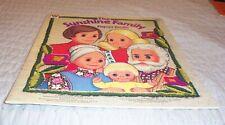 Vintage 70's Sunshine Family Paper Dolls Uncut 1977