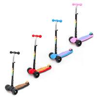 Kids Child Kick Push Scooter 3 Wheels LED Flashing Tilt Lean Boys Girls Scooter