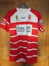 Maillot rugby SOMR MAUBOURGUET moulant shirt rouge blanc David XL