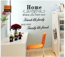 """""""HOME""""  Quotes Wall Decals Vinyl Wall Stickers Removable"""