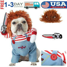 Chucky Dog holding knife Chuky Doll Halloween Costume *Multiple Sizes S M L*