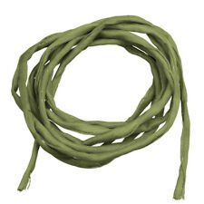 Silk Fabric String 2mm Hand Dyed Olive Green 1 Metre Length (F40/10)