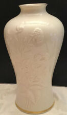 Lenox Ming Blossom Vase with 24k Gold Trim 9 3/4� tall Made In Usa