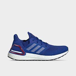 Men's Adidas UltraBoost 20 Running Shoes Royal Blue / Red Sz 10 EG0758