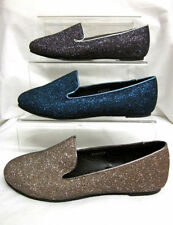 Zapatos planos de mujer azul textiles