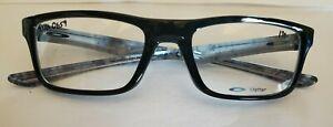 Brand New OAKLEY PLANK 2.0 51-18 POLISHED BLACK Men's Eyeglasses Glasses