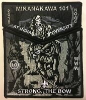 MIKANAKAWA OA LODGE 101 BSA CIRCLE TEN TX 2018 NOAC 2-PATCH GHOST STRONG THE BOW