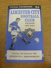 16/12/1961 Leicester City v Manchester City. gracias por tomarse el tiempo para VI