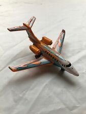 2002 Matchbox Business Jet Airplane Orange With Blue Flames