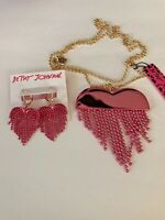 BETSEY JOHNSON  EARRINGS, NECKLACE SET BOUGHT AND SOLD IN USA