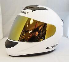 LS2 Helmet Motorbike Fullface Ff352 Rookie Solid White M
