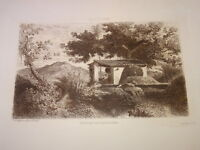 Adolphe Paul E. BALFOURIER (1816-1876) Gravure PAYSAGE CARTAGENA ESPAÑA MURCIA