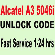 Unlock Optus Alcatel A3 OT 5046I  IMEI unlock code - Processing time: 1-24hrs