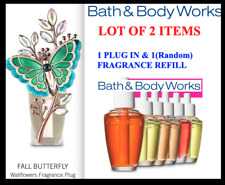 2 items Bath & Body Works FALL BUTTERFLY Wallflowers  Plug in & (1) refill NEW