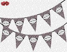 Happy Birthday Leopard Spots Pink Chic Theme Bunting Banner party decoration UK