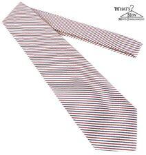 BROOKS BROTHERS rosso/ Bianco/ righe blu cotone a strisce alterne 10.2cm largo