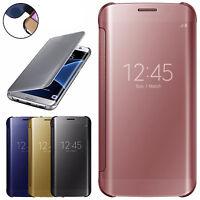 Spiegel Flip Case Cover Hülle Tasche Clear View Für Samsung Galaxy S7 / S7 Edge