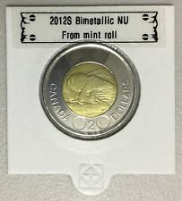 CANADA 2012 New 2 dollar TOONIES (BU directly from mint roll)