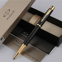 Luxurious Metal Parker IM Matte Black Golden Clip 0.5mm Fine Nib Rollerball Pen