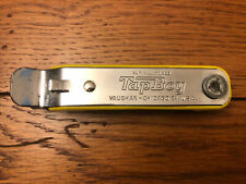Vintage Yellow Vaughan'S Tap Boy Bottle Opener & Corkscrew Made In The Usa