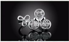 *UK* 925 SILVER PLATED ADJUSTABLE OPEN BAND THUMB RINGS double flower petal
