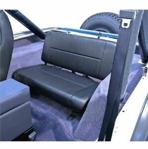 Rugged Ridge 13461.15 Blk Rear Standard Replacement Seat for Jeep CJ/Wrangler YJ