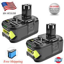 2X For 18Volt Lithium Battery Ryobi ONE Plus P108 P107 P102 P105 P104 P103 4.0Ah