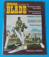 American Blade Magazine December 1978! Rhett Stidham Estate