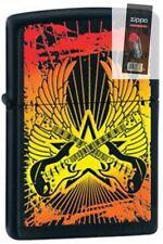 Zippo 24891 guitar wings black Lighter + FLINT PACK